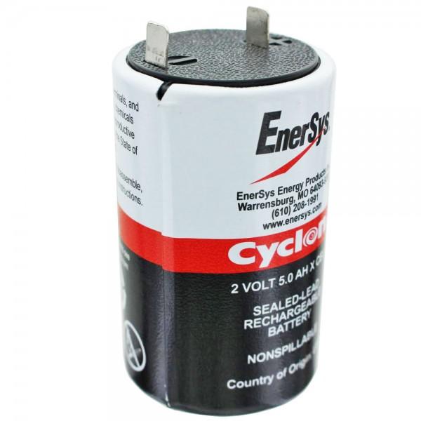 Hawker Cyclon 5.0-2, 0800-0004 størrelse x bly PB batteri 2 volt 5000mAh