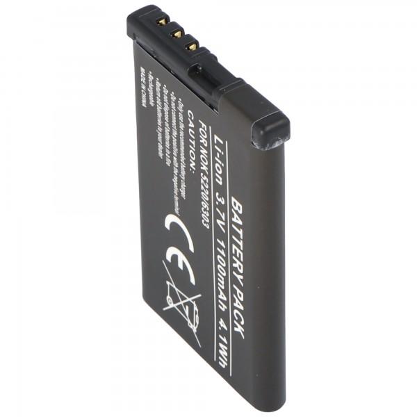 AccuCell batteri passer til Nokia 5220 XpressMusic batteri 6303 classic BL-5CT