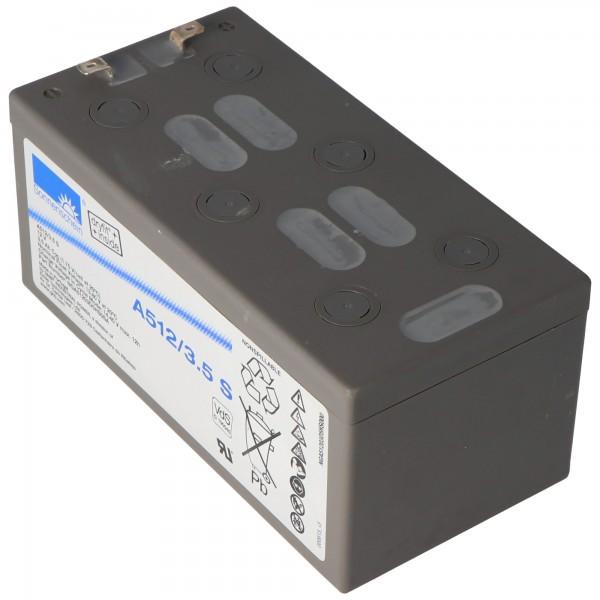Sunshine Dryfit A512 / 3.5S blybatteri, VdS nr. G190045