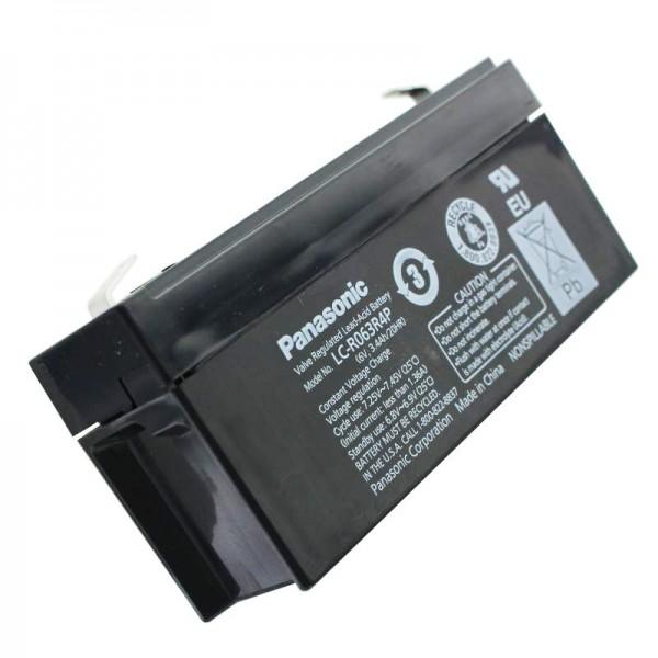 Panasonic LC-R063R4PG PB Bly Batteri 6 Volt, 3.4Ah