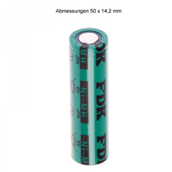 Sanyo FDK Flat Top HR-AAU NiMH batteri 1.2V 1650mAh / AA uden loddetabel