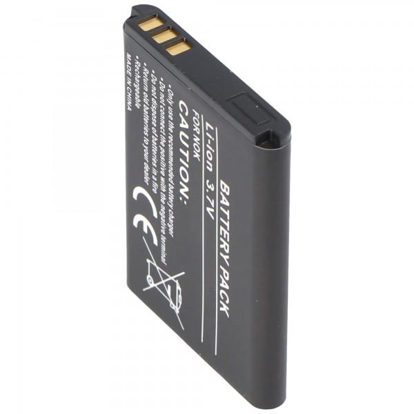 AccuCell batteri passer til Nokia 5070, BL-5B, 720mAh