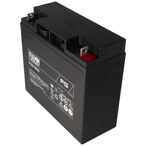 Fiamm FG21803 12V batteri 18Ah, ikke egnet som startbatteri