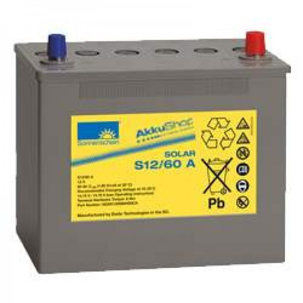 Solskin Solar S12 / 60A Batteri 12V 60Ah