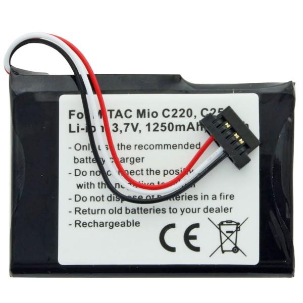 AccuCell batteri passer til Mitac Mio C250 batteri E4MT081202B12