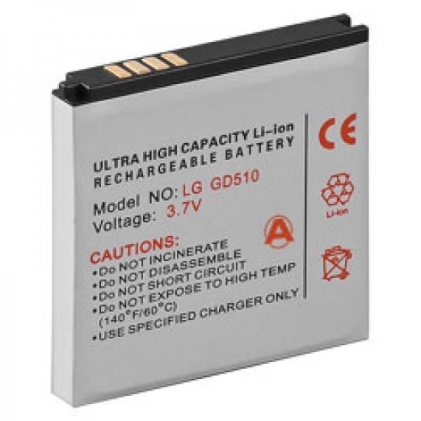 Batteri passer til LG GD510 Pop, GD880 Mini, LGIP-550N SBPL0100001