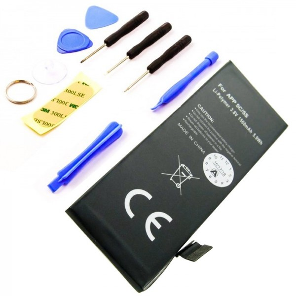 Batteri passer til Apple iPhone 5C Li-Polymer 616-0667 batteri, 616-0720 batteri med værktøj