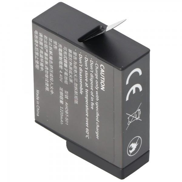 Batteri passer til GoPro Hero 5 batteri AABAT-001 Li-Ion 3,85 Volt