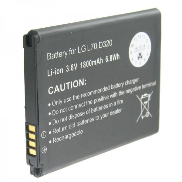 AccuCell batteri passer til LG D320, L70 batteri BL-52UH
