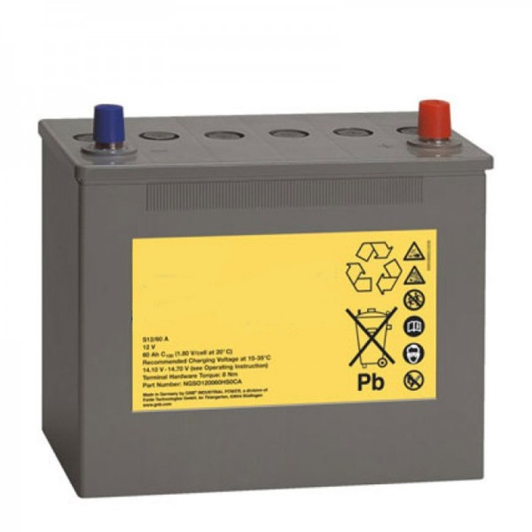 Batteri til Poliscan Speed Vitronic, ekstra batteri 12 Volt 60Ah A-Pol-tilslutning