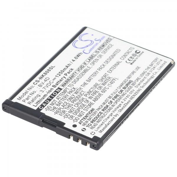 AccuCell batteri passer til Nokia 808 PureView, N9, BV-4D