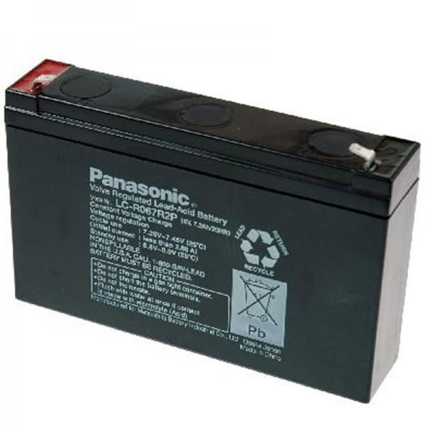 Panasonic BT-6M7.0AC blybatteri med 6 volt og 7200mAh