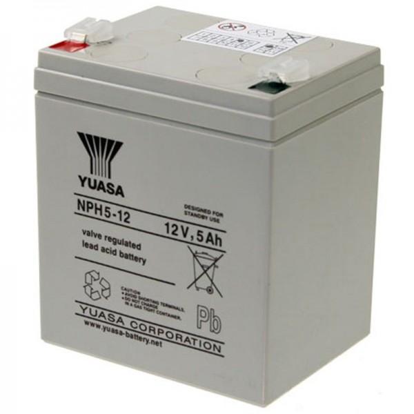 YUASA NPH5-12 Batterilad PB 12Volt 5Ah