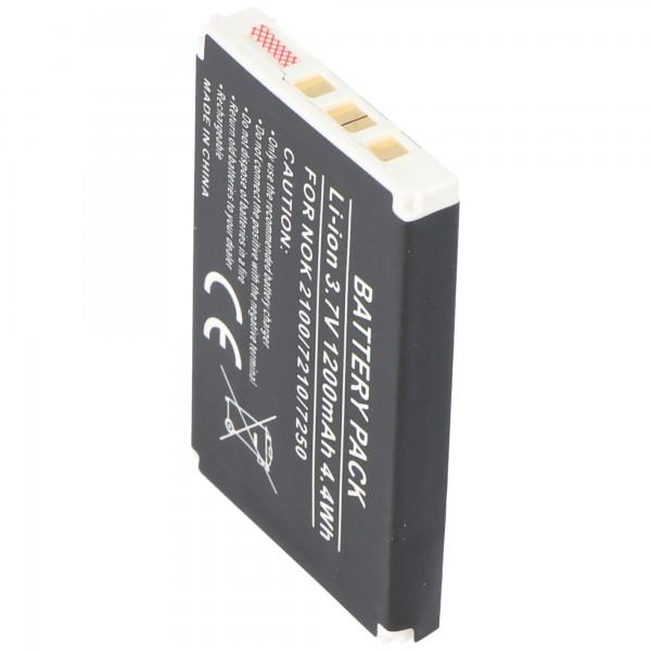 AccuCell batteri passer til Nokia 7210, BLD-3, 1000mAh
