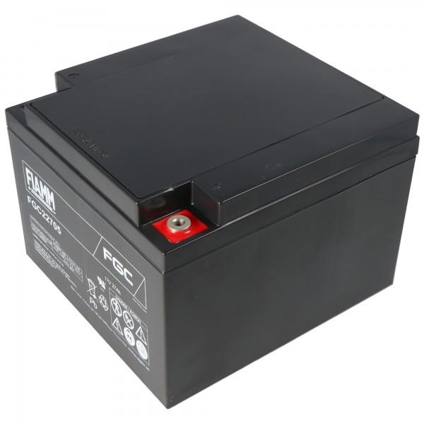 Fiamm FGC22705 blybatteri 12 volt 27000mAh med M5 skruetilslutning