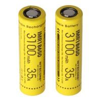 Nitecore 18650IMR Li-Ion batteri 3100mAh / 35A, sæt med 2 stk