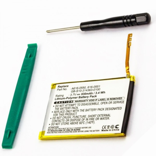 Batteri passer til Apple iPod Touch 4th Generation 616-0551, 616-0550