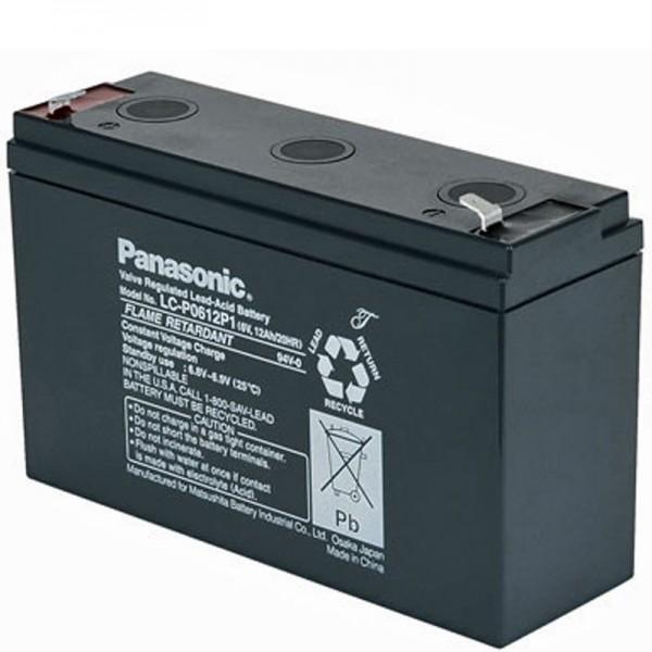 Panasonic LC-R0612P1 PB blybatteri 6 volt, 12Ah