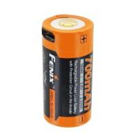 Fenix ARB-L16-700UP Beskyttet Li-ion-batteri 16340 RC123A til PD25 PD22UE, med USB-opladningsstik