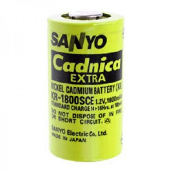 Sanyo KR-1800SCE Batteri Sub-C enkeltcelle uden loddetabel