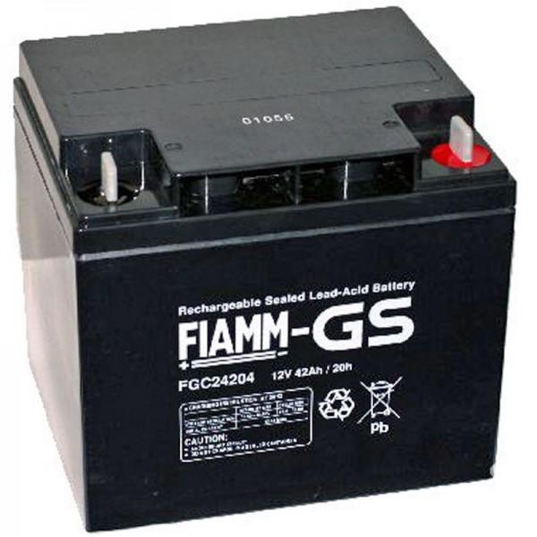 Fiamm FGC24207 Batteri med M6 skruetilslutning 12Volt 42Ah