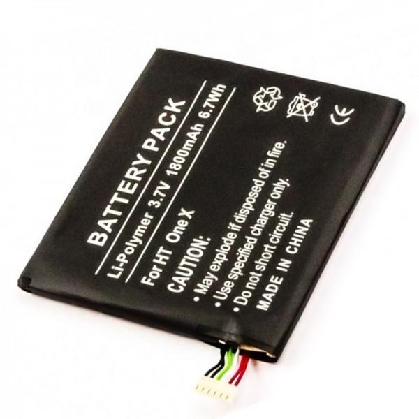 Batteri passer til mobiltelefonen HTC Endeavour, One X, One X LTE, One XT, Supreme