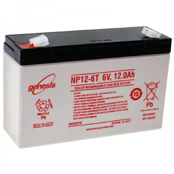 Hawker NP12-6 Batterilad PB 6 Volt 12Ah med Faston 6.3mm kontakter