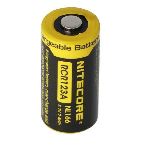CR123A NiteCore 16340 Li-ion batteri 2 / 3A celle til lys 3.7 Volt 650mAh