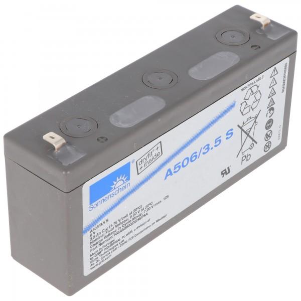 Sunshine Dryfit A506 / 3.5S blybatteri, tilslutning 4.8mm