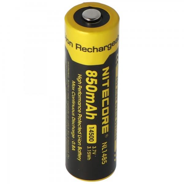 NiteCore Li-ion batteri 14500 til LED-lygter NL147