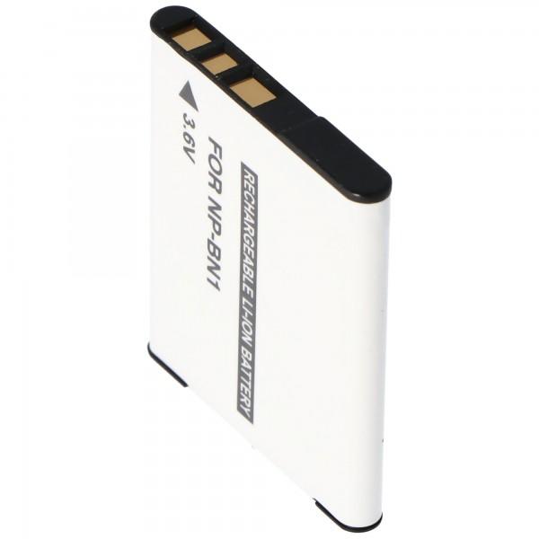 Batteri passer til Sony NP-BN1 batteritype N ingen originalt batteri med 630mAh kapacitet