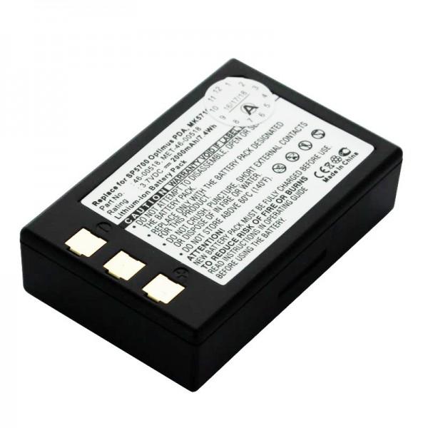 Batteri passer til Metrologic SP5700 Scanner, Optimus PDA, MK5710 Batteri 46-00518, MET-46-00518