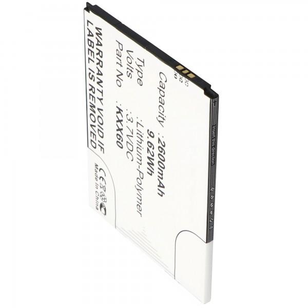 Batteri passer til Kazam Trooper 2 6.0, Trooper 2 X6.0 3.7 Volt 2600mAh