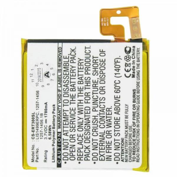 AccuCell Batteri passer til Sony Ericsson Mobiltelefon Xperia T, TL, LT30a, LT30i, Mint