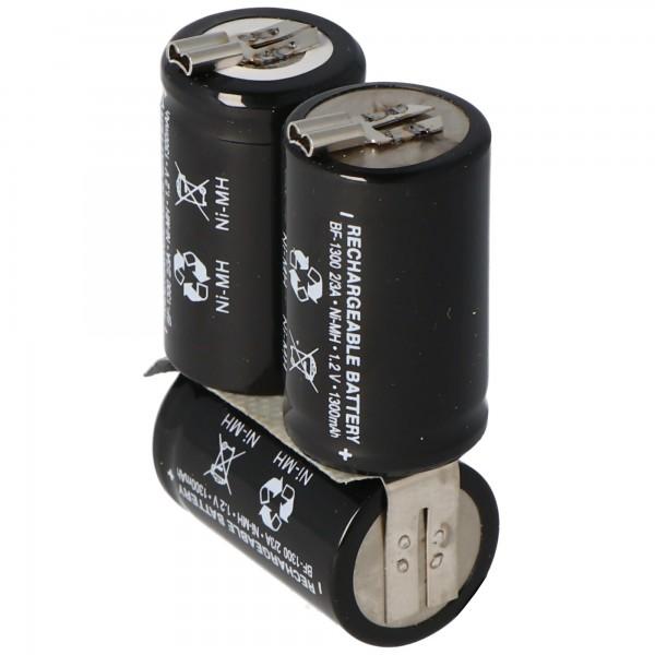 Wella Expert HS50 NiMH genopladeligt batteri som en replik af AccuCell med 1300mAh