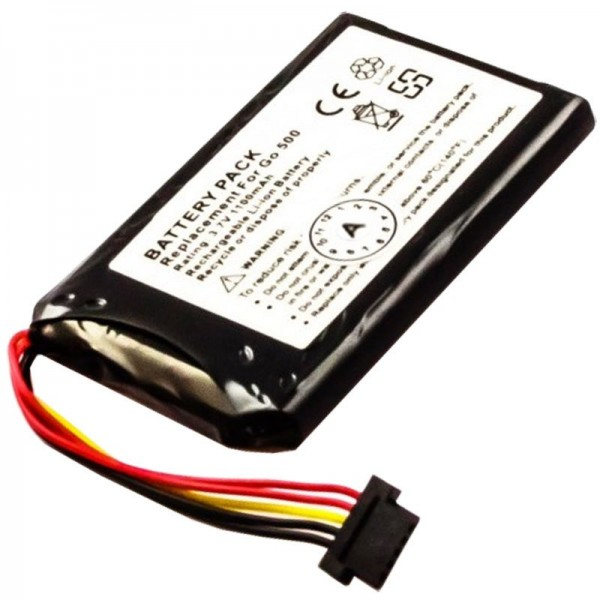 Batteri passer til TomTom Go550, Go550 Live, 8CP5.011.11, P11P11-4