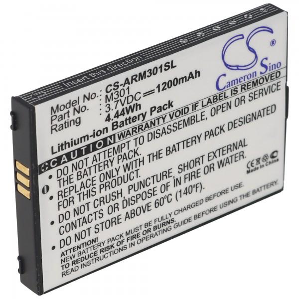 AccuCell batteri passer til Auro M301 mobiltelefon batteri