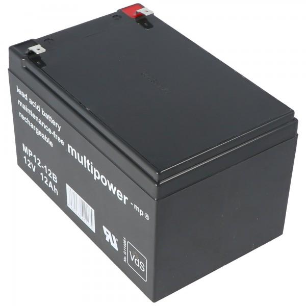 Multipower MP12-12B Bly Batteri 12 Volt 12Ah,