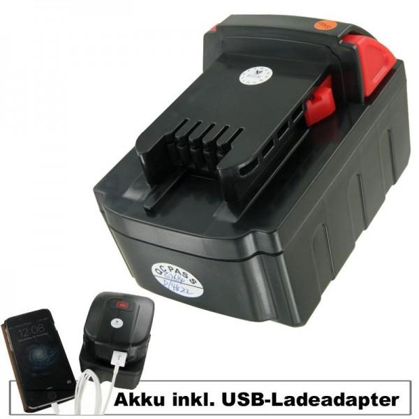 Batteri og USB opladning adapter passer til MILWAUKEE M18 VC batteri Li-ion 18 Volt, 4000mAh