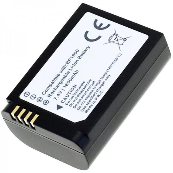 AccuCell batteri passer til Samsung NX1 batteri BP1900 med 1600mAh