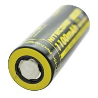 Nitecore IMR18490 med 1100mAh, 3,6V - 3,7 Volt Flattop uden hoved med plus pol flad 49,05x18,5mm, oplad ende spænding maks. 4.2V