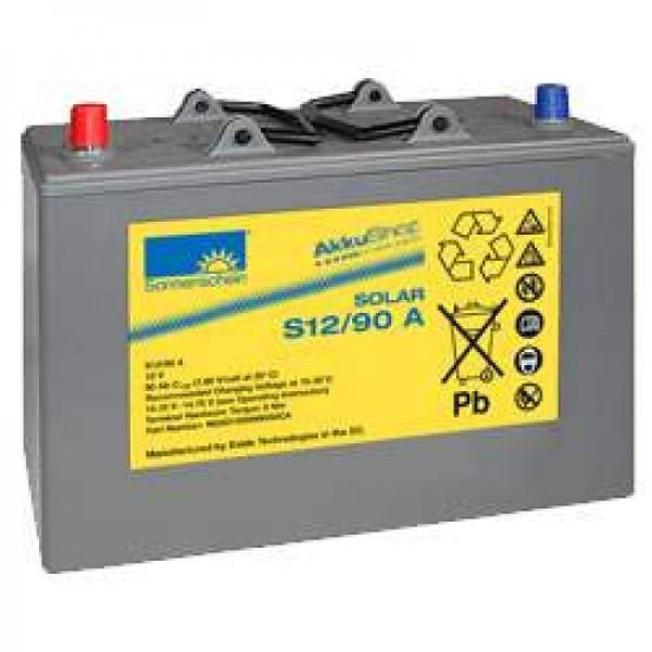 Solskin Solar S12 / 90A Genopladeligt Batteriledning 12Volt 90Ah