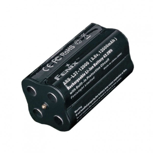 Batteri passer til Fenix LR40R LED lommelygte, Fenix ARB-L37-12000 LiIon batteripakke til LR40R