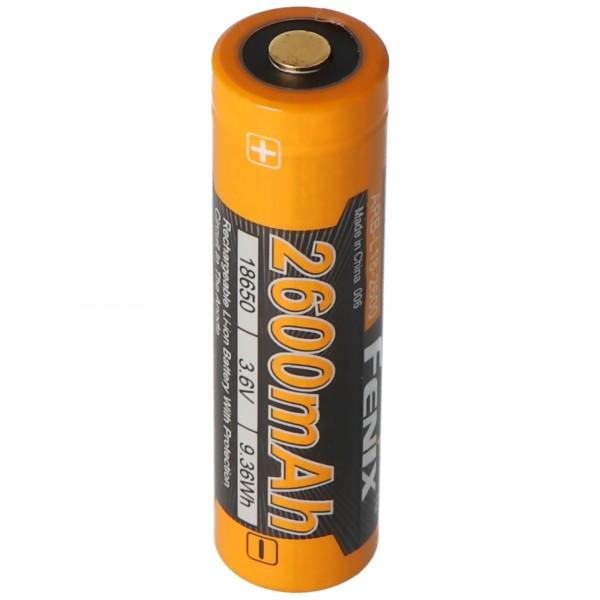 Fenix ARB-L2 18650 Li-ion batteri beskyttet 2600mAh, ny version 2016