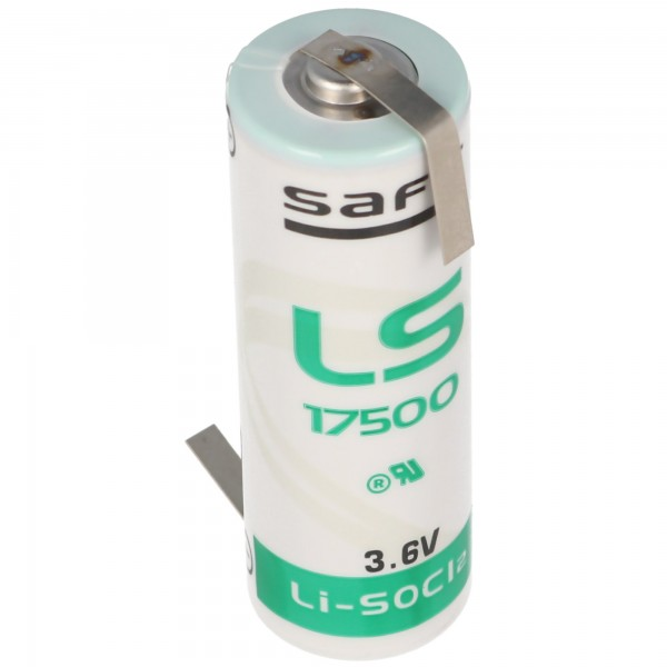 SAFT LS17500 lithiumbatteri, størrelse A, med loddetråd Z-form