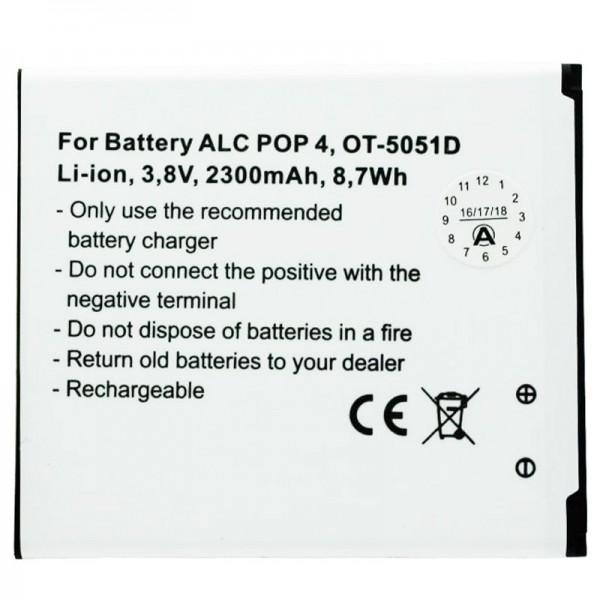 Batteri passer til Alcatel POP 4, OT-5051D batteri TLP025H1