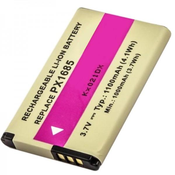 TOSHIBA Camileo S20 genopladeligt batteri PX1685 som en replik af AccuCell