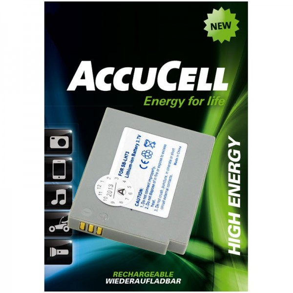 AccuCell batteri passer til Samsung SB-LH73 batteri til digitalkamera batteri