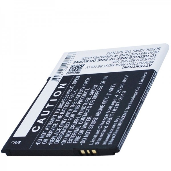 Batteri passer til BQ Aquaris 5.0 HD B20 Li-Ion 3.7 Volt 2000mAh