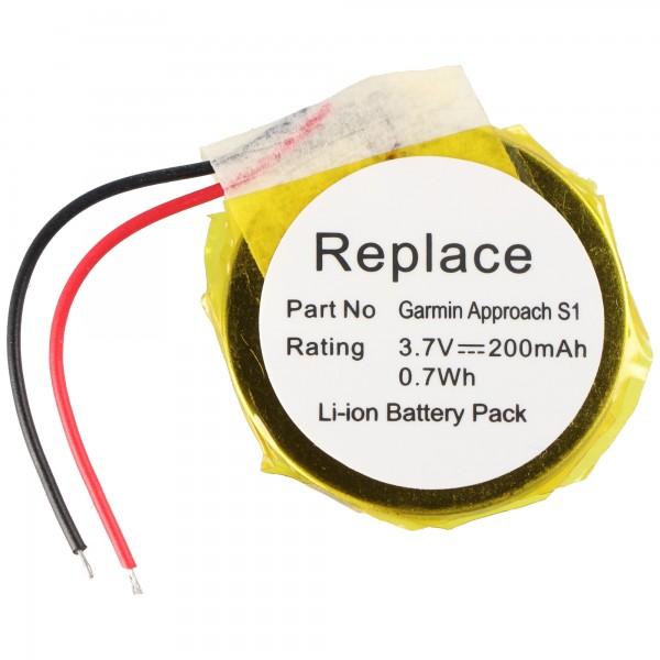 Batteri passer til Garmin Approach S1 GPS Golf ur Li-ion batteri 361-00047-00